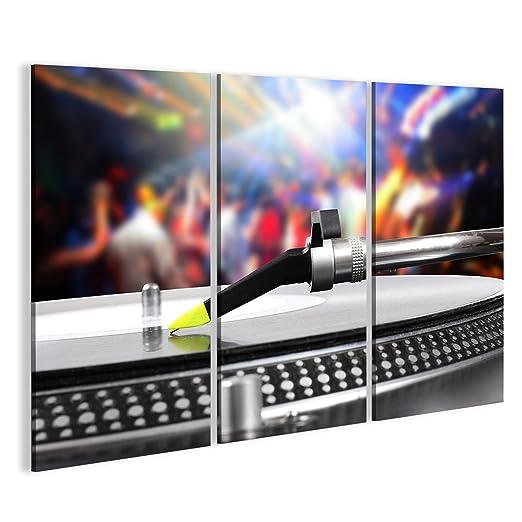 islandburner Cuadro Cuadros DJ Tocadiscos con Disco de Vinilo en ...