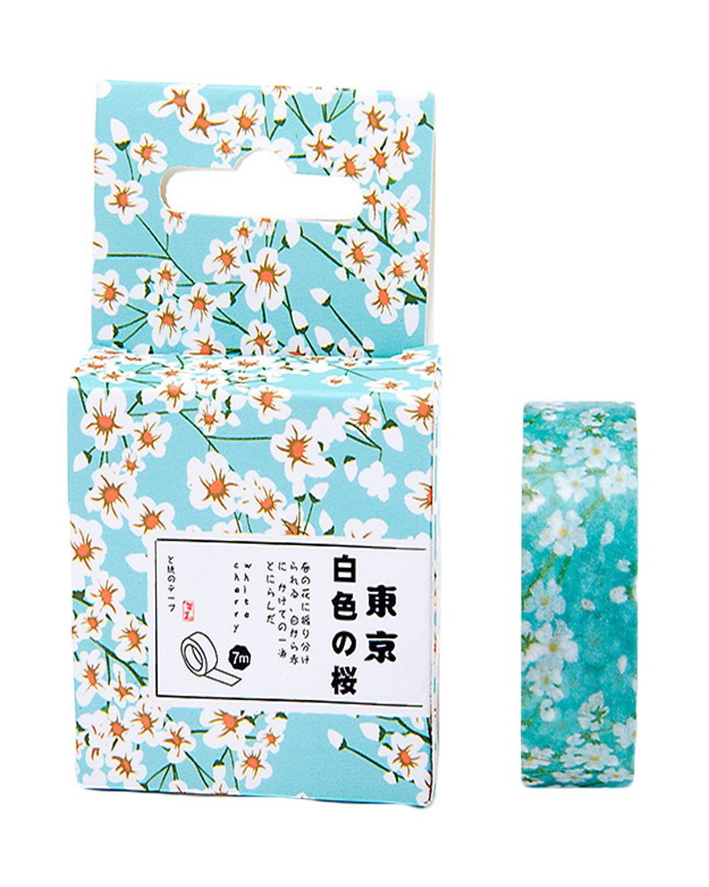 Oil Paint Tape Masking Sticker Scrapbook Deco Adhesive Sticky Paper Tape Gift Wrap Box Set (F) Cathery