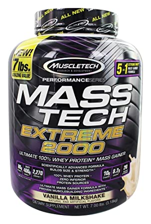 Muscletech Performance Series Mass Tech Extreme 2000 Vanilla Milkshake - 3175 gr