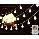 Globe String Light, LED Starry Fairy Light for Garden,Wedding,Xmas Party, Battery Operated with 8 Light Modes, 13Ft/40LEDs