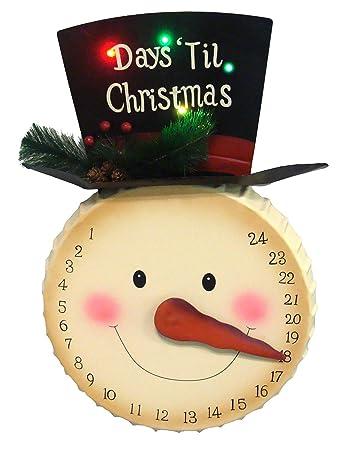 Tage Bis Weihnachten.Amazon De 50 8 Cm Led Beleuchteten Tage Bis Weihnachten