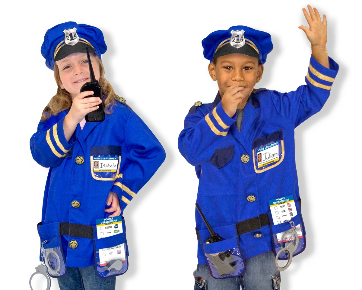 kids halloween costume police officer