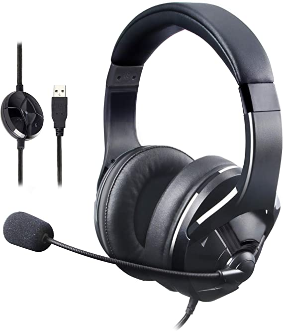 AmazonBasics USB Gaming Headset with Microphone for PC