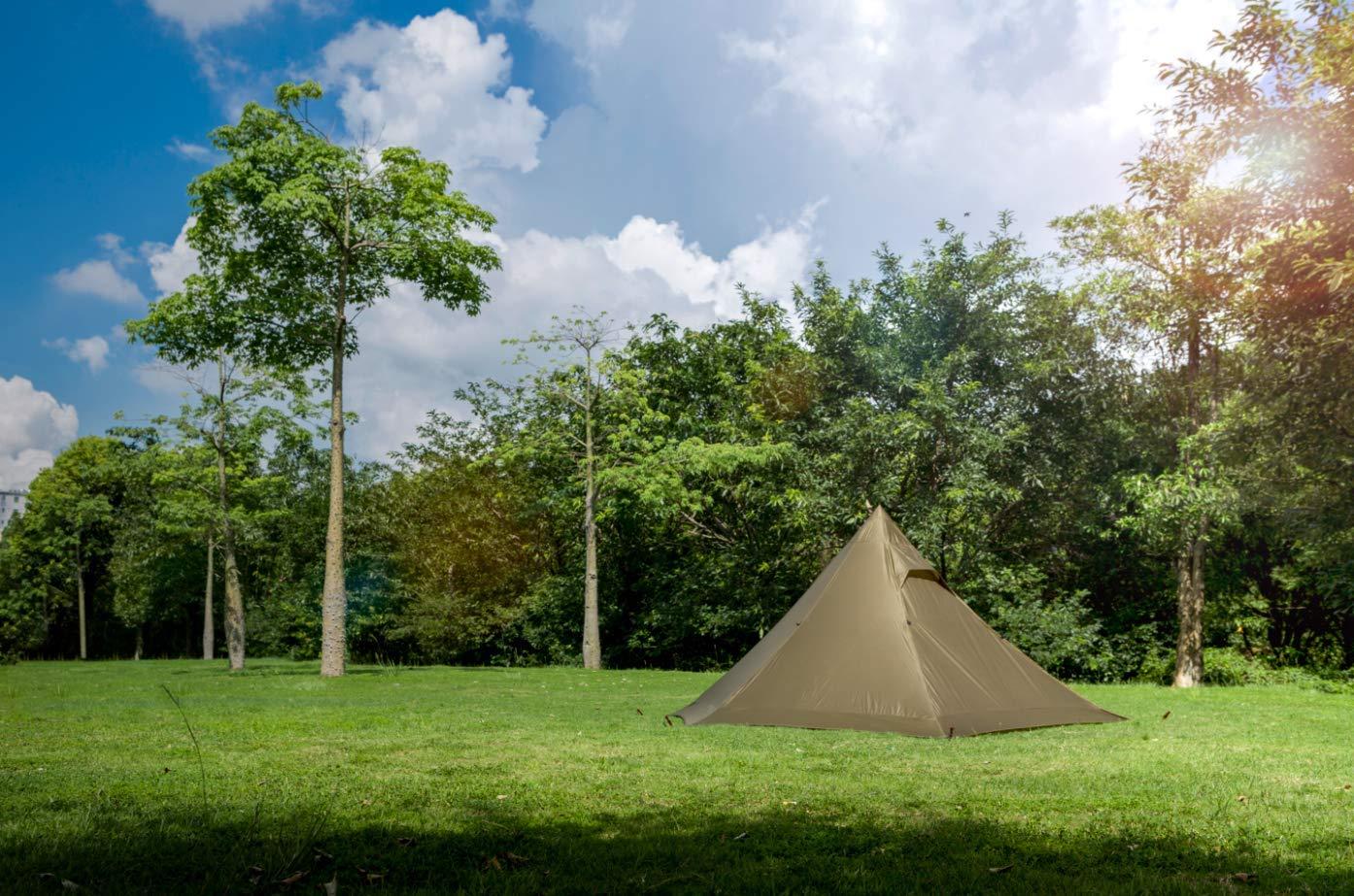 1T onetigris Ligero Camping Pisos - Tienda de campaña para 2 Personas, Color Coyote Braun, tamaño 33cm*9cm*10cm: Amazon.es: Deportes y aire libre