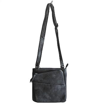 e0de9638fb043 Jennifer Jones - kleine - schicke Damen Handtasche Clutch Umhängetasche  Abendtasche Ausgehtasche Schultertasche (Blau)