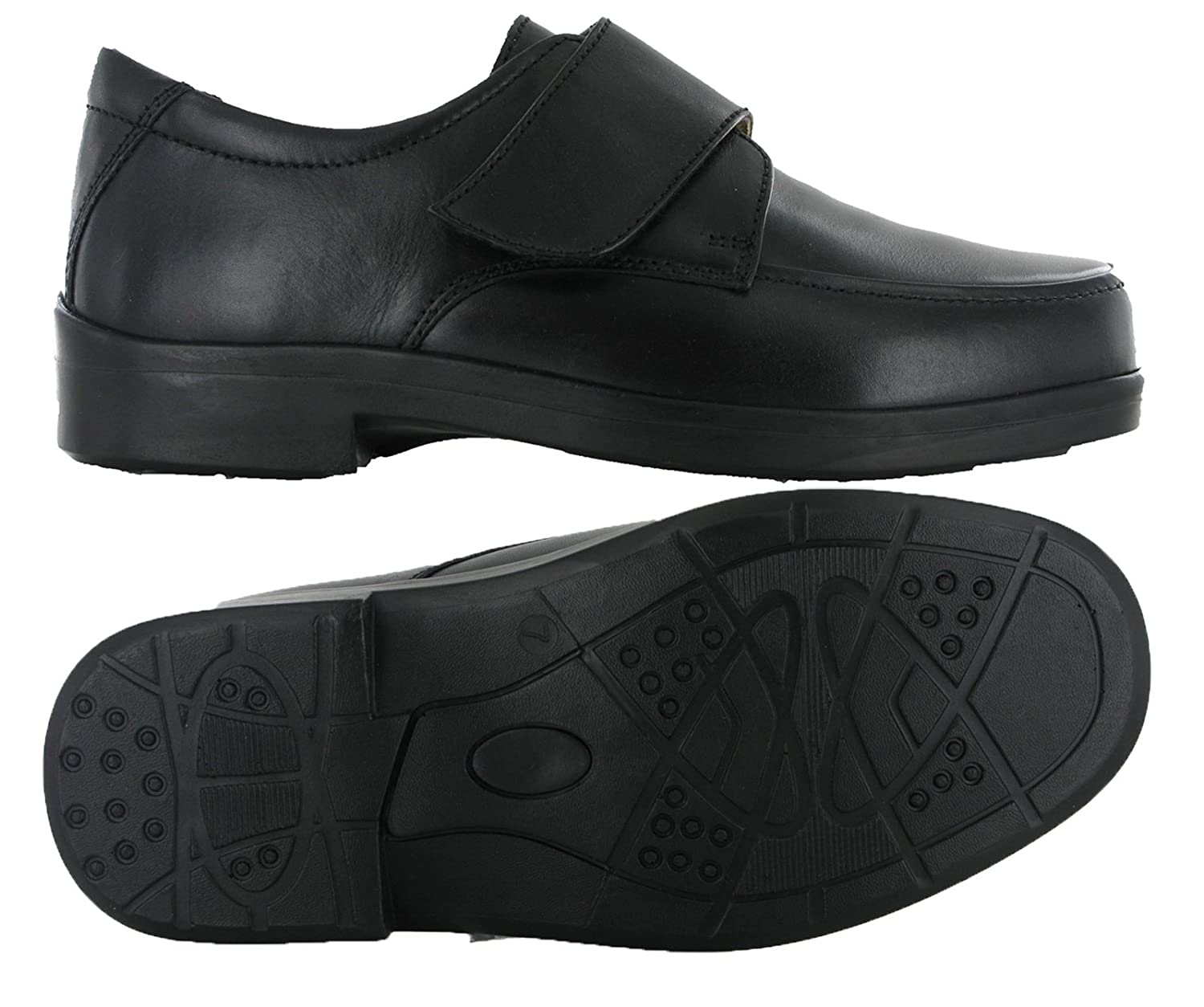 47bb7e1f Roamer Wide Fit EEE Velcro Strap Flat Leather Smat Casual Shoes:  Amazon.co.uk: Shoes & Bags