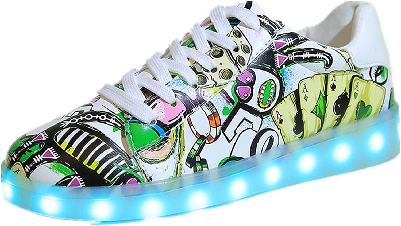 USB Flashing Women//Girls LED Light Up Shoes Pink//Silver Classic YL1011A