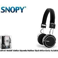 Snopy SN-A7 Mikrofonlu Kulaklık, Siyah