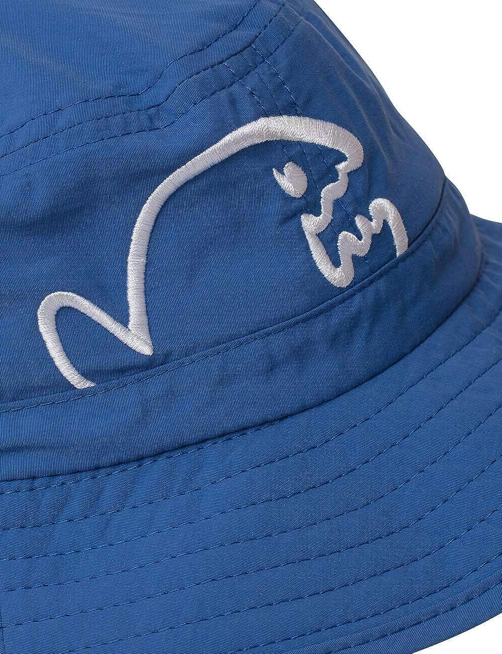 iQ-UV Childrens Bucket Hat Bites Sun Hat Dark Blue 50-55 cm