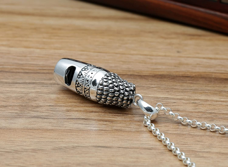Bishilin 925 Sterling Silver Necklace for Men Silver Unisex-Adult Punk Necklace for Men