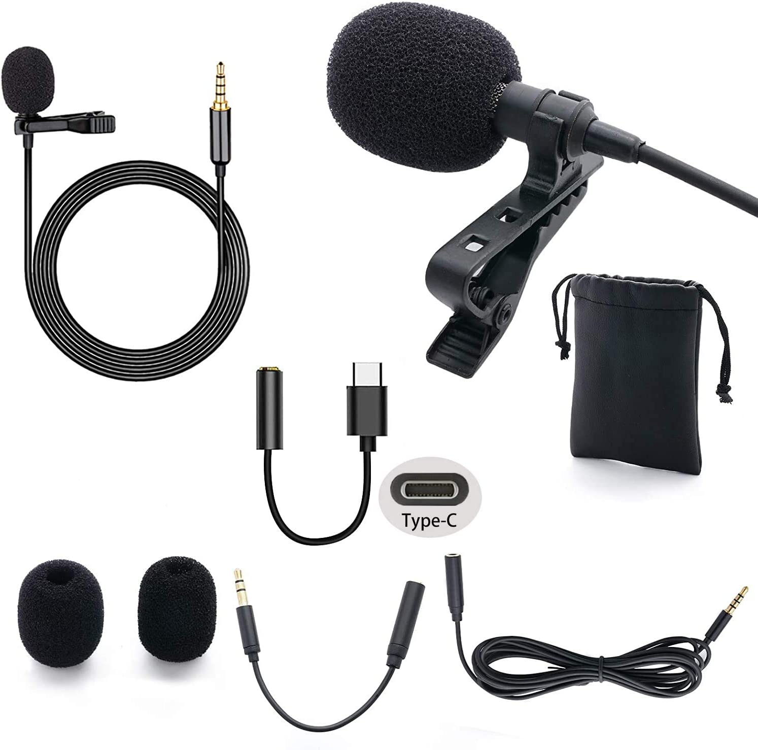Amazon Com 3 5mm Professional Lavalier Lapel Microphone Omnidirectional Mic For Desktop Pc Computer Mac Smartphone Iphone Camcorder Android Camera For Interview Youtube Video Conference Podcast 1 Pack Musical Instruments