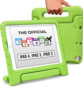 Cooper Dynamo [Rugged Kids Case] Protective Case for iPad 4, iPad 3, iPad 2 | Protective Child Proof Cover, Stand, Handle, Screen Protector (Green)