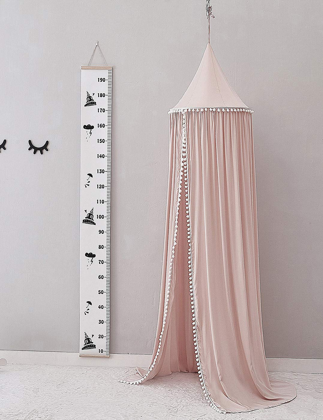 BAIHUODRESS Bed Canopy for Children Round Dome Cotton Mosquito Net Room Decoration Indoor Outdoor Playing Games House Reading//Crib Nook Height 245cm//96.5 Kids Princess Play Tents