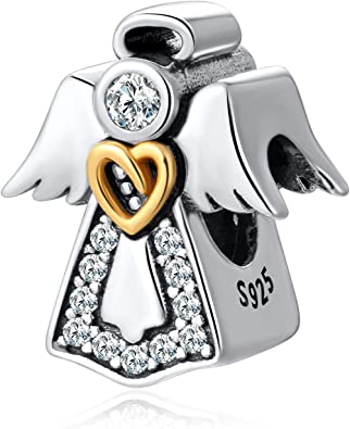 Angel Wing Gods Love Protection Remembrance Dangle Charm for European Bracelets Fashion Jewelry for Women Man