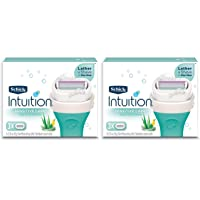 Schick Intuition Naturals Sensitive Care Razor Blade Refill Cartridges, 6 count