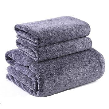 SYXLTSH Toallas Toallas de baño Adultos masajes sábanas Toallas Gruesas algodón Absorbente Suave Conjunto Gris: Amazon.es: Hogar