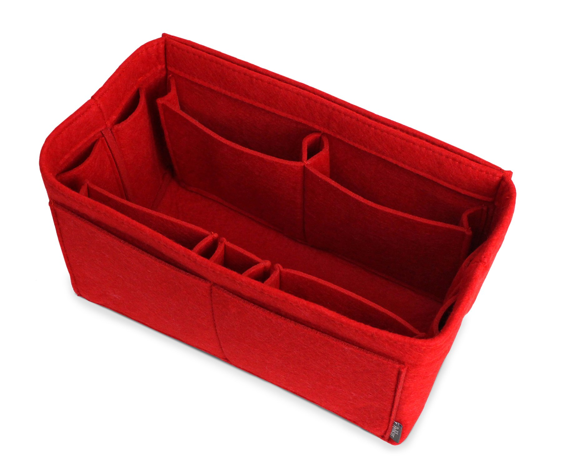 Pelikus Felt Purse & Tote Organizer Insert/Multi-Pocket Handbag Shaper (Large, Red) by Pelikus (Image #1)