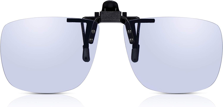 Clip-on Gafas de Ordenador de Read Optics: Anti Luz Azul + TAC Polarizadas + Antireflejos + Filtro UV-400. Para Pantalla Digital, Teléfono, TV, Juegos de PC. Ayuda a la Fatiga Ocular, Jaqueca, Dormir