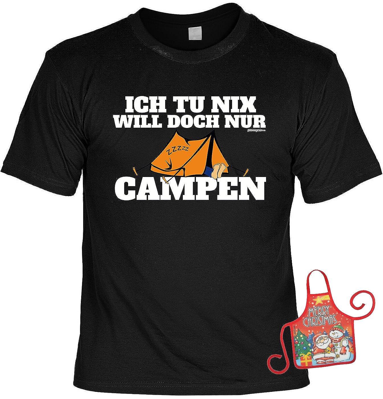 d72f290495206 lustiges Sprüche T-Shirt Campershirt Camper Weihnachts-Geschenk-Set  Minischürze   Ich tu nix Will doch nur ...