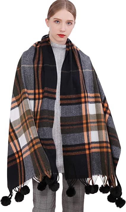 New Cashmere Winter Warm Cashmere Long Pashmina Shawl Wrap Scarf