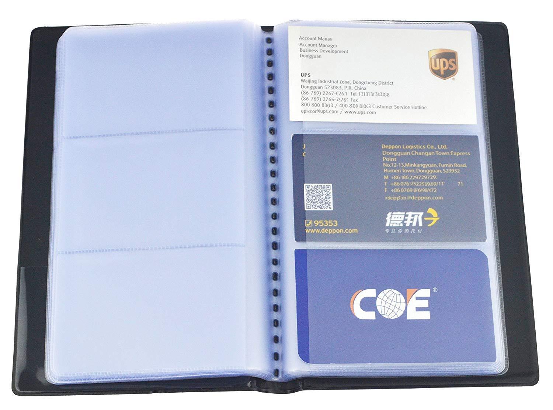 Business Journal Name card Book Holder organizer–contiene 240carte (nero) Generic