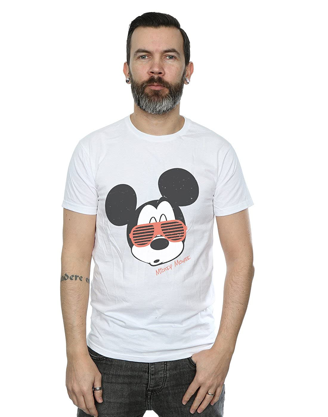 5b9cf4bd Amazon.com: Disney Men's Mickey Mouse Sunglasses T-Shirt: Clothing