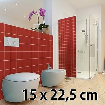 Malango® Fliesenaufkleber 15 X 22 5 Cm Klebefliesen Fliesendekor Bad Küche  Wandfliesendekoration Fliesendesign 10