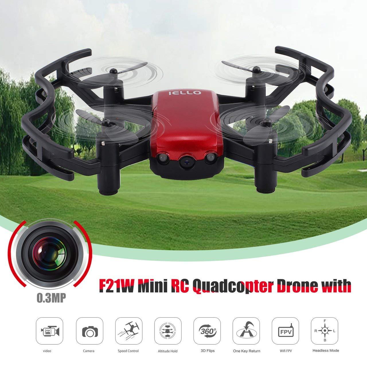 F21W Mini RC RC RC Quadcopter Drohne mit 0.3MP Kamera Höhe Halten Headless-Modus 0fcabf