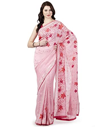 e6d9d5630d Satya Paul Georgette Saree with Blouse Piece (ESW1217800_Light Pink_Free  Size): Amazon.in: Clothing & Accessories