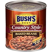 BUSH'S BEST Canned Country Style Baked Beans (Pack of 12), Source of Plant Based Protein and Fiber, Gluten Free, 16 oz