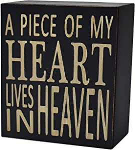 Rustic Box Sign Decor with Saying Wood Plaque Hanging Wall Art Sign, 5.9