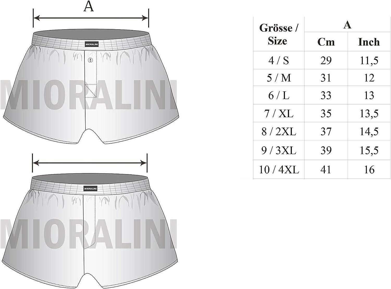 MioRalini 10 Boxer da Uomo in Cotone Morbido ed Elastico al 100/% in 10 Colori Taglia 4-10