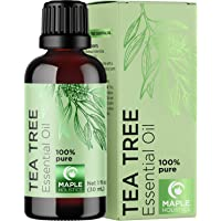 100% Tea Tree Oil Pure - Tea Tree Essential Oil for Skin Dry Scalp and Cuticle Oil for Nail Cleaner - 100% Pure Tea Tree…