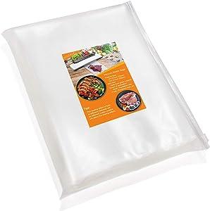 Vacuum Sealer Bags for Food,Food Saver Bags 50 Pint (6x10)& 50 Quart (8x12) PHIAKLE Vacuum Seal Bags for food storage and Sous Vide With BPA Free, Food Grade Material