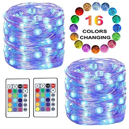Amazoncom Led String Lights Color Changing Fairy Lights Battery