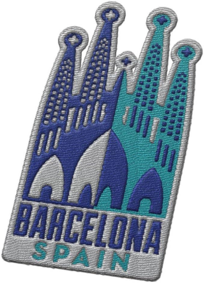 Parche de viaje de Barcelona España – Sagrada Familia por Antoni Gaudi/Gran recuerdo para mochilas y equipaje, mochilero y tarjeta de viaje.: Amazon.es: Juguetes y juegos