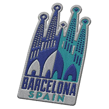 Amazon.com: Barcelona Spain Travel Patch – Sagrada Familia ...