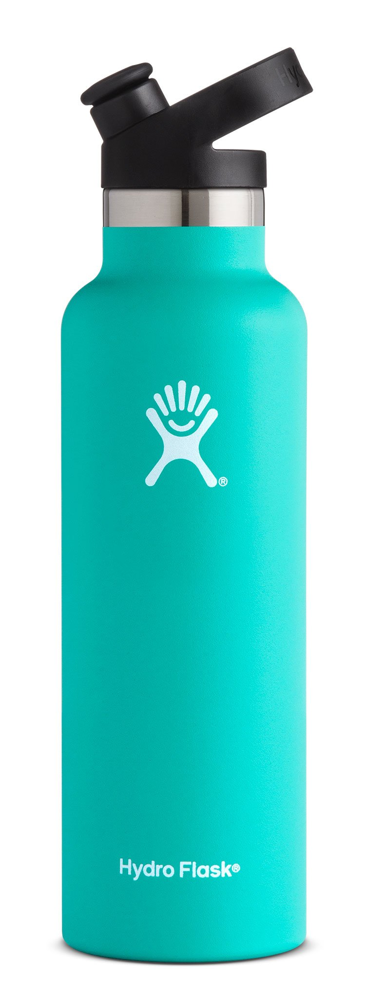 Hydro Flask 21 oz Double Wall Vacuum Insulated Stainless Steel Sports Water Bottle, Standard Mouth with BPA Free Sport Cap, Mint