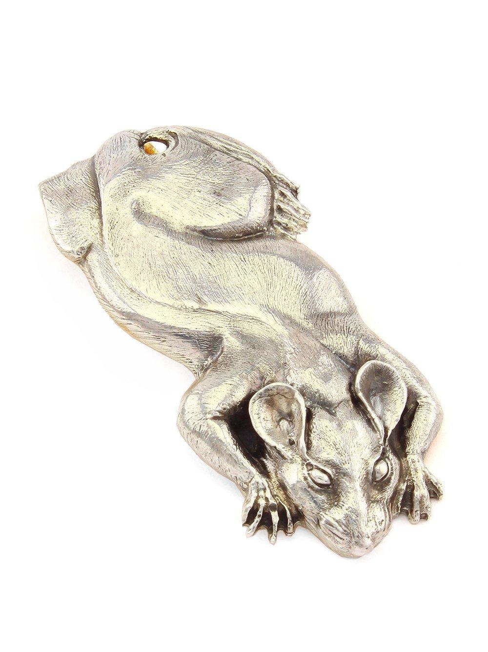 Silver Banknote clip Money clip ''Rat''