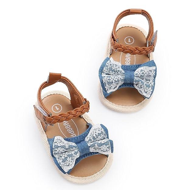 Topgrowth Sandali Bambina Primigi Ragazza Scarpe da Culla Neonato Fiore Suola Morbida Anti Scivolo Sneakers (13, Bianco)