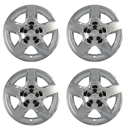 17 inch Hubcaps Best for 2008-2011 Chevrolet Malibu - (Set of 4) Wheel Covers 17in Hub Caps Chrome Rim Cover - Car Accessories for 17 inch Wheels - Snap On ...
