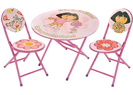 Nickelodeon Dora the Explorer 3-Piece Round Table and Chair Set  sc 1 st  Amazon.com & Amazon.com: Nickelodeon Dora the Explorer 3-Piece Round Table and ...