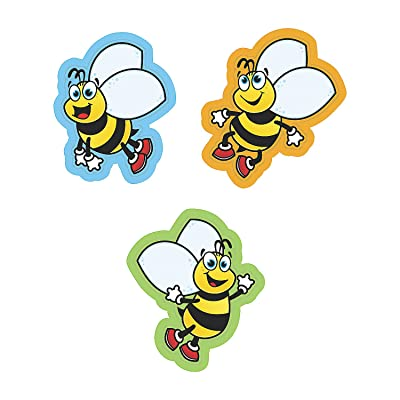 Fun Express Bulletin Board Cutouts - Bumble Bee - 48 Pieces - Educational and Learning Activities for Kids: Toys & Games