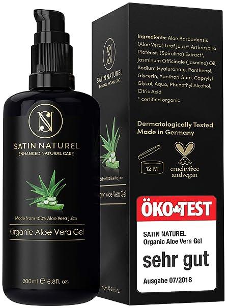 Gel di Aloe Vera Naturale Biologico 200ml - Con Aloe Vera al 97% - Cura  Lenitiva 2c34bbf41a30