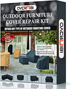 OVCRNIBI Patio Furniture Cover Repair Kit,Fabric Repair Kit-Restorer of Your Patio Furniture Covers Like Furniture Set Covers, Sofa Covers, Bench Covers,Table Covers,Super Easy Instructions