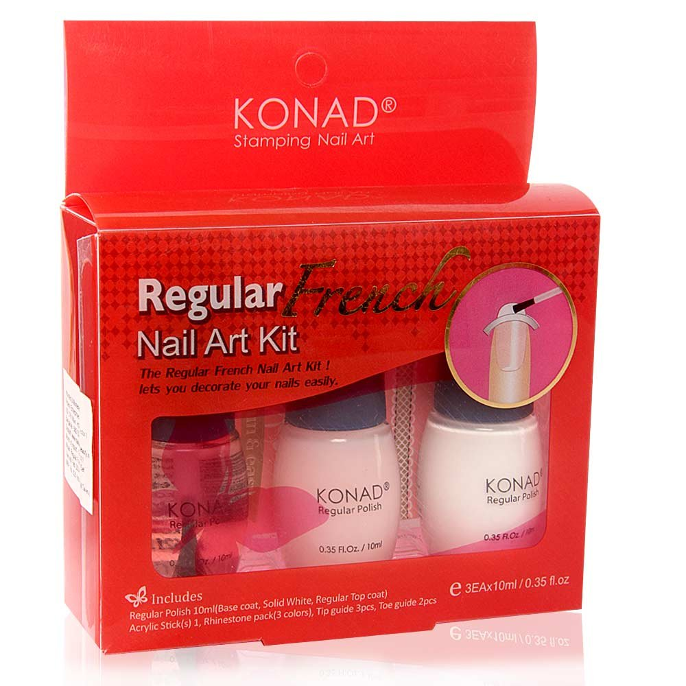 Amazon Konad French Manicure Stamping Nail Art Kit Fake