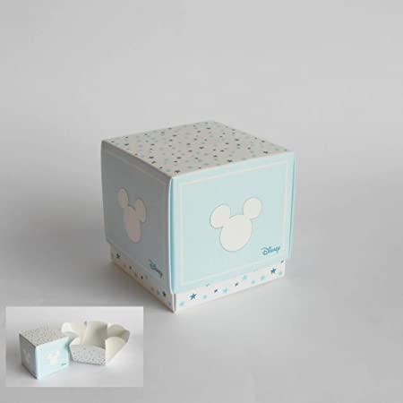 Detalle Caja cubo Confeti Topolino Disney Azul cielo set 20 piezas art 68047: Amazon.es: Hogar