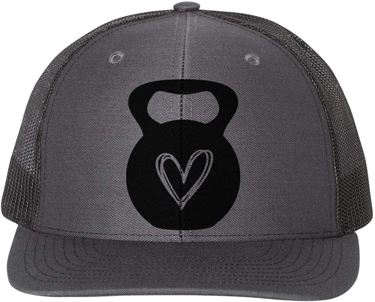 Ebenezer Fire Apparel Dumbbell Heart//Crossfit Hat//Adjustable Snapback//Black Text