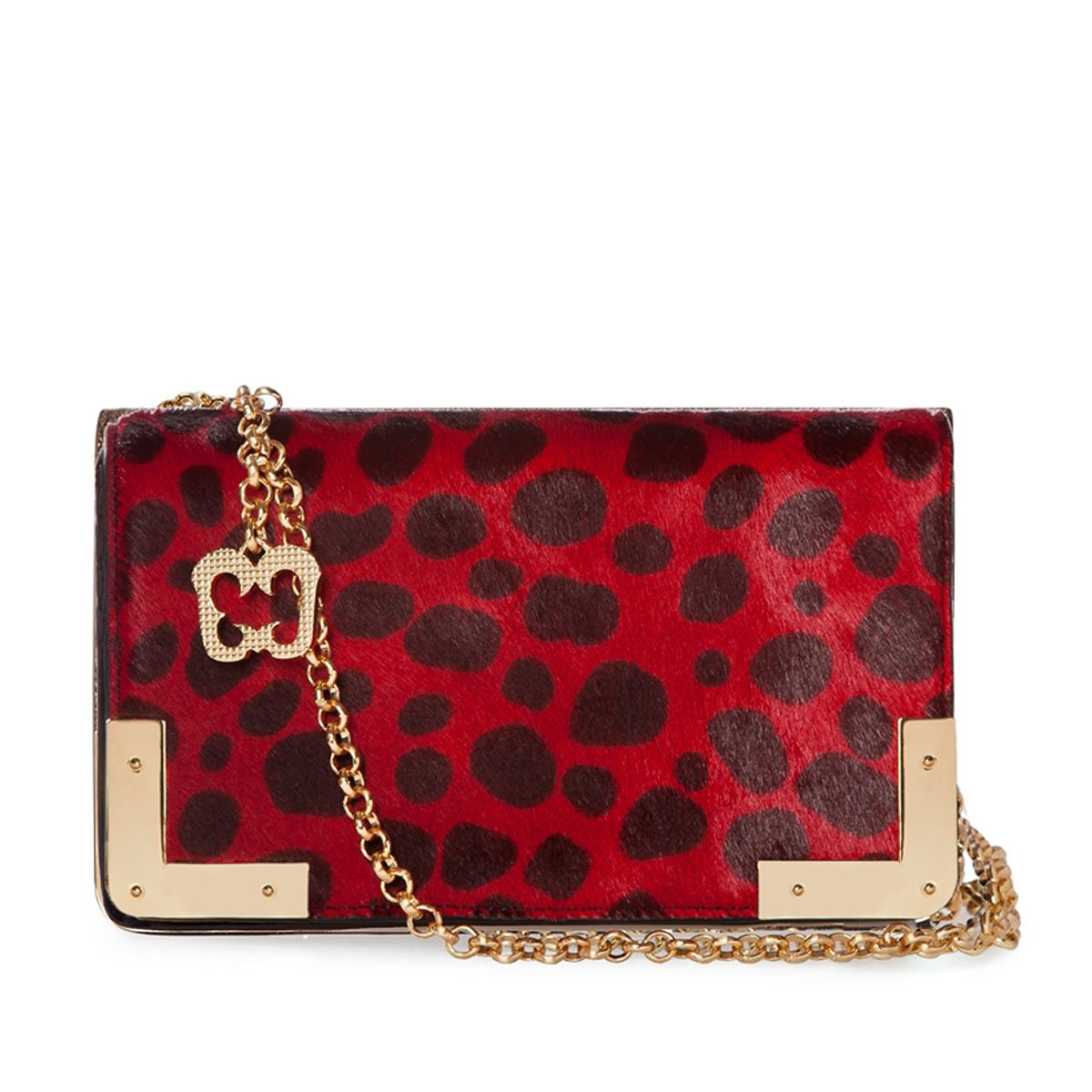 Eric Javits Luxury Fashion Designer Women's Handbag - Cassidy - Red Black
