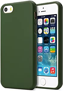 MUNDULEA Compatible iPhone SE (1st gen-2016)/iPhone 5/iPhone 5s Case,Shockproof TPU Ptotective Cover Compatible iPhone 5s (Deep Green)
